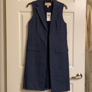 Michael Kors denim vest jacket